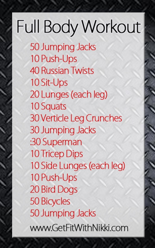 Fitness Friday Full Body Workout