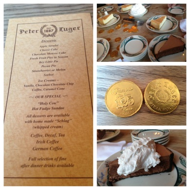 Dessert at Peter Luger