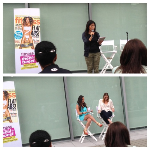 Top: Betty Wong telling us about the day in store. Bottom: Heather Muir (L) & Sarah Lucero (R)