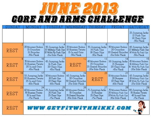 June Arms and Abs Challenge