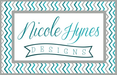 Nicole Hynes Designs Logo Blue Chevron