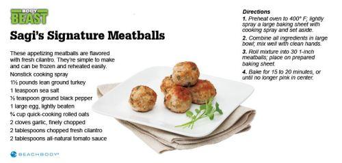 Body Beast Sagi's Signature Meatballs