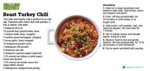 Body Beast Turkey Chili
