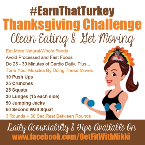 #EarnThatTurkey Thanksgiving Challenge