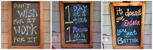 21 Day Fix Motivational Blackboards