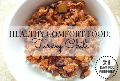Healthy Comfort Food Turkey Chili 21DF
